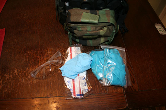 Contents of medical kit