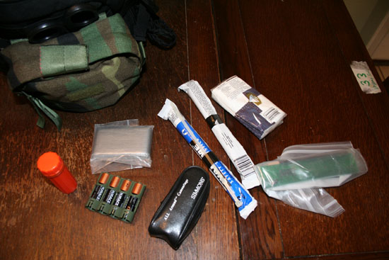 Front pouch contents